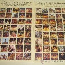 Affiches de Semaine Sainte: MÁLAGA Y SUS COFRADÍAS. 80 IMÁGENES FORMATO SELLO DE SEMANA SANTA DE MÁLAGA. . Lote 27126863