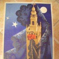 Carteles de Semana Santa: ORIGINAL CARTEL DE SEMANA SANTA DE SEVILLA DEL AÑO 1955 POR F.MARISCAL - ORLA -JEREZ. LITOGRAFIA.. Lote 29344405