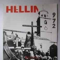 Carteles de Semana Santa: HELLIN, ALBACETE - NO ES CARTEL IMPRESO, ORIGINAL DE LA LITOGRAFIA ORTEGA VALENCIA - AÑO 1972. Lote 29448432