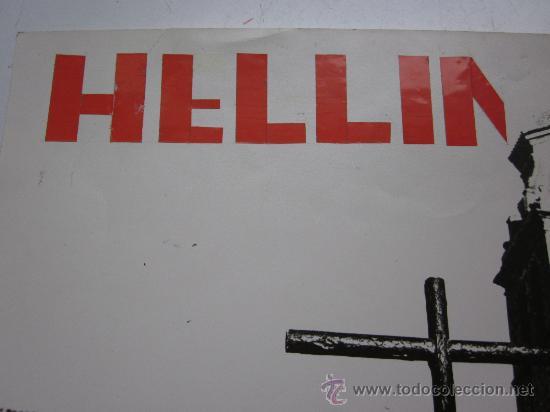 Carteles de Semana Santa: HELLIN, ALBACETE - NO ES CARTEL IMPRESO, ORIGINAL DE LA LITOGRAFIA ORTEGA VALENCIA - AÑO 1972 - Foto 2 - 29448432