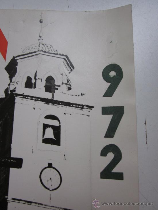 Carteles de Semana Santa: HELLIN, ALBACETE - NO ES CARTEL IMPRESO, ORIGINAL DE LA LITOGRAFIA ORTEGA VALENCIA - AÑO 1972 - Foto 3 - 29448432
