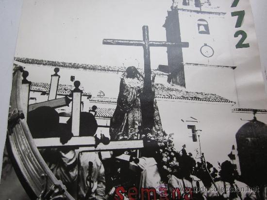 Carteles de Semana Santa: HELLIN, ALBACETE - NO ES CARTEL IMPRESO, ORIGINAL DE LA LITOGRAFIA ORTEGA VALENCIA - AÑO 1972 - Foto 4 - 29448432