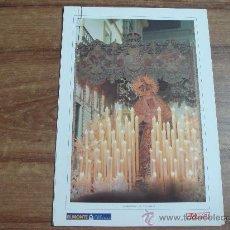 Carteles de Semana Santa: LOTE DE 5 LAMINAS.-MARIA SANTISIMA DE LAS ANGUSTIAS.-EN REVERSO:HERALDICA,SINTESIS HISTORICA,DATOS... Lote 30284342
