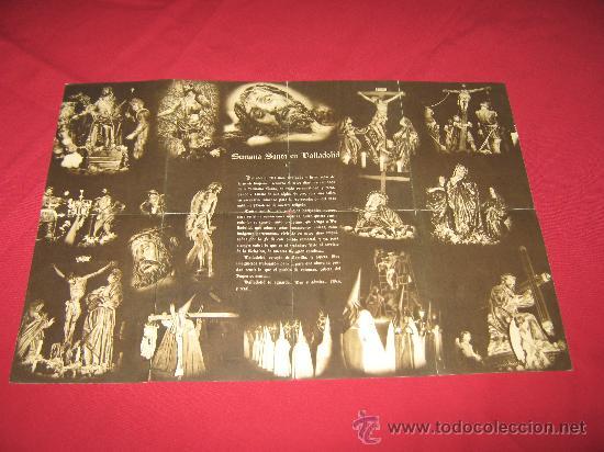 Carteles de Semana Santa: SEMANA SANTA DE VALLADOLID - PROGRAMA DE LAS COFRADIAS DEL AÑO 1956 - VER ADICIONALES - Foto 3 - 30568122