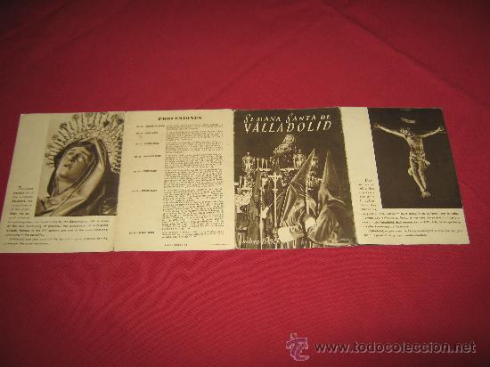 Carteles de Semana Santa: SEMANA SANTA DE VALLADOLID - PROGRAMA DE LAS COFRADIAS DEL AÑO 1956 - VER ADICIONALES - Foto 4 - 30568122