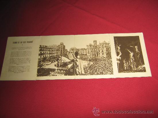 Carteles de Semana Santa: SEMANA SANTA DE VALLADOLID - PROGRAMA DE LAS COFRADIAS DEL AÑO 1956 - VER ADICIONALES - Foto 5 - 30568122