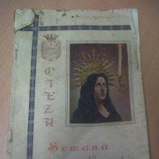 Carteles de Semana Santa: JUNTA DE HERMANDADES PASIONARIAS SEMANA SANTA DE CIEZA MURCIA 1961. Lote 30869971