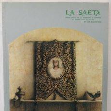 Carteles de Semana Santa: REVISTA LA SAETA AGRUPACION DE COFRADIAS DE LA SEMANA SANTA DE MALAGA AÑO 1992. Lote 31678444