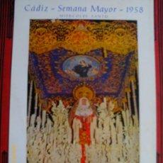 Carteles de Semana Santa: SEMANA SANTA - CADIZ SEMANA MAYOR 1958 - NTRA. SEÑORA DE LA LUZ.- VIRGEN- CARTEL. Lote 31824204