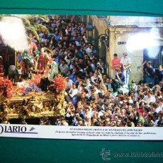 Carteles de Semana Santa: SEMANA SANTA DE MALAGA AYER Y HOY EL DIARIO LA POLLINICA AÑOS 90. Lote 31930411