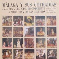 Carteles de Semana Santa: MÁLAGA Y SUS COFRADÍAS: 80 IMÁGENES DE LA SEMANA SANTA DE MALAGA EN FORMATO SELLO. NUMERADO 001548. Lote 32684057