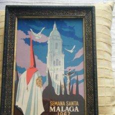 Carteles de Semana Santa: CARTEL DE SEMANA SANTA, MÁLAGA, 1967, ENMARCADO. Lote 33633145