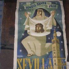 Carteles de Semana Santa: CARTEL SEMANA SANTA EN SEVILLA 1948. Lote 33664859