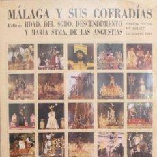 Carteles de Semana Santa: MÁLAGA Y SUS COFRADÍAS. 80 IMÁGENES FORMATO SELLO DE SEMANA SANTA DE MÁLAGA. NUMERADO 001617. Lote 34101906