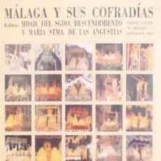 Carteles de Semana Santa: MÁLAGA Y SUS COFRADÍAS. 80 IMÁGENES FORMATO SELLO DE SEMANA SANTA DE MÁLAGA. NUMERADO 001914. Lote 34101923