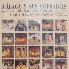 Carteles de Semana Santa: MÁLAGA Y SUS COFRADÍAS. 80 IMÁGENES FORMATO SELLO DE SEMANA SANTA DE MÁLAGA. NUMERADO 001742. Lote 34101931