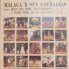 Carteles de Semana Santa: MÁLAGA Y SUS COFRADÍAS. 80 IMÁGENES FORMATO SELLO DE SEMANA SANTA DE MÁLAGA. NUMERADO 001223. Lote 34101943