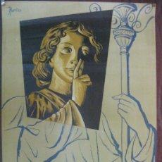 Carteles de Semana Santa: CARTEL.SEMANA SANTA.GERONA 1960.J.PORTAS.LIT.SUCS. DE JOSE SABADELL-BARÑA.MED:97 X 60 CMS.. Lote 35496764