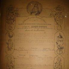 Carteles de Semana Santa: JEREZ DE LA FRONTERA, CÁDIZ, SEMANA SANTA, NUESTRA SEÑORA DEL MAYOR DOLOR, 1891, MUY RARO, 33X42CM. Lote 214322968