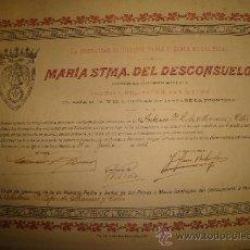 Carteles de Semana Santa: JEREZ, SEMANA SANTA 1941, COFRADÍA DEL DESCONSUELO, ADMISIÓN DE UN COFRADE, 35X25CM. Lote 35530269