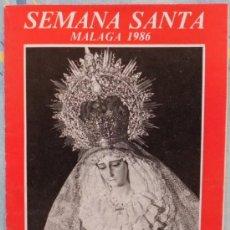 Carteles de Semana Santa: ITINERARIO SEMANA SANTA DE MALAGA AÑO 1986. Lote 35882661