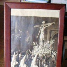 Carteles de Semana Santa: MAGNIFICO CUADRO MARCO DE MADERA CARTEL SEMANA SANTA TOLEDO AÑO 1955 CRISTO DE LA VEGA, FOURNIER. . Lote 36172271