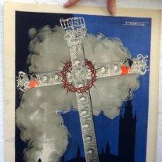 Carteles de Semana Santa: CARTEL SEMANA SANTA , SEVILLA 1950 , ILUSTRADOR F. MARISCAL , ORIGINAL, A. Lote 36614978
