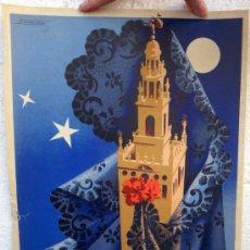 Carteles de Semana Santa: CARTEL SEMANA SANTA , SEVILLA 1955 , ORIGINAL, A. Lote 36615147