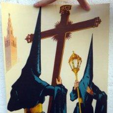 Carteles de Semana Santa: CARTEL SEMANA SANTA , SEVILLA 1959 , ILUSTRADOR GUILLERMO BONILLA , ORIGINAL, A. Lote 36615186