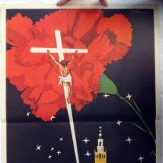Carteles de Semana Santa: CARTEL SEMANA SANTA , SEVILLA 1966 , ILUSTRADOR P ORDOÑEZ , ORIGINAL, A. Lote 36615558