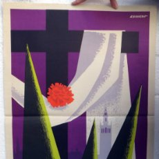 Carteles de Semana Santa: CARTEL SEMANA SANTA , SEVILLA 1968 , ILUSTRADOR ESCUDERO , ORIGINAL, A. Lote 36615602