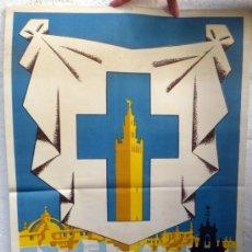 Carteles de Semana Santa: CARTEL SEMANA SANTA , SEVILLA 1963 , ILUSTRADOR VENEGAS , ORIGINAL, A. Lote 36615628