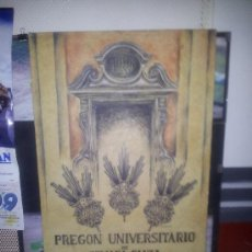 Carteles de Semana Santa: CARTEL PREGON UNIVERSITARIO 1989 SOBRE MADERA. Lote 36642600
