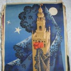 Carteles de Semana Santa: SEVILLA.CARTEL SEMANA SANTA 1955..F MARISCAL.IMPRIME ORLA JEREZ.61X96. Lote 37647766