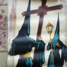 Carteles de Semana Santa: CARTEL SEMANA SANTA SEVILLA 1959.GUILLERMO BONILLA.ANGEL GRANADA.50X31,RASGADO. Lote 193728861