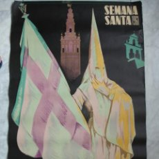 Carteles de Semana Santa: CARTEL SEMANA SANTA SEVILLA. 1961.GUILLERMO BONILLA..ANGEL GRANADA.61X99. Lote 37812868