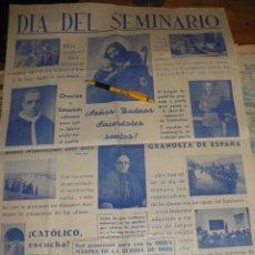 Carteles de Semana Santa: DIA DEL SEMINARIO, GRANDEZA DE ESPAÑA.. Lote 37954612