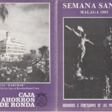 Carteles de Semana Santa: ITINERARIO SEMANA SANTA MALAGA 1983 CRISTO DEL AMOR. Lote 39300744