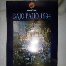 Carteles de Semana Santa: TEATRO CERVANTES DE MALAGA CARTEL 45 X 69. Lote 39343070