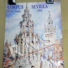 Carteles de Semana Santa: CARTEL CORPUS CHRISTI EN SEVILLA AÑO 1993 - JOSÉ GONZÁLEZ PAPA JUAN PABLO II RELIGIÓN CRISTIANA ARTE. Lote 39722599
