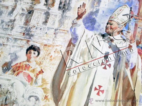 Carteles de Semana Santa: CARTEL CORPUS CHRISTI EN SEVILLA AÑO 1993 - JOSÉ GONZÁLEZ PAPA JUAN PABLO II RELIGIÓN CRISTIANA ARTE - Foto 3 - 39722599