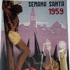 Carteles de Semana Santa: ANTIGUO CARTEL DE CORDOBA, SEMANA SANTA 1959, ILUSTRADO POR RICARDO ANAYA – MIDE 49 X 39 CMS.. Lote 38280998