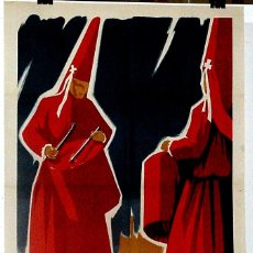 Carteles de Semana Santa: ANTIGUO CARTEL DE MURCIA, SEMANA SANTA 1961 – MIDE 97 X 65 CMS.. Lote 38281042