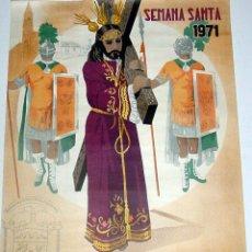 Carteles de Semana Santa: ANTIGUO CARTEL DE PUENTE GENIL, SEMANA SANTA 1971, ILUSTRADO POR RICARDO ANAYA – MIDE 74 X 53 CMS.. Lote 38281043