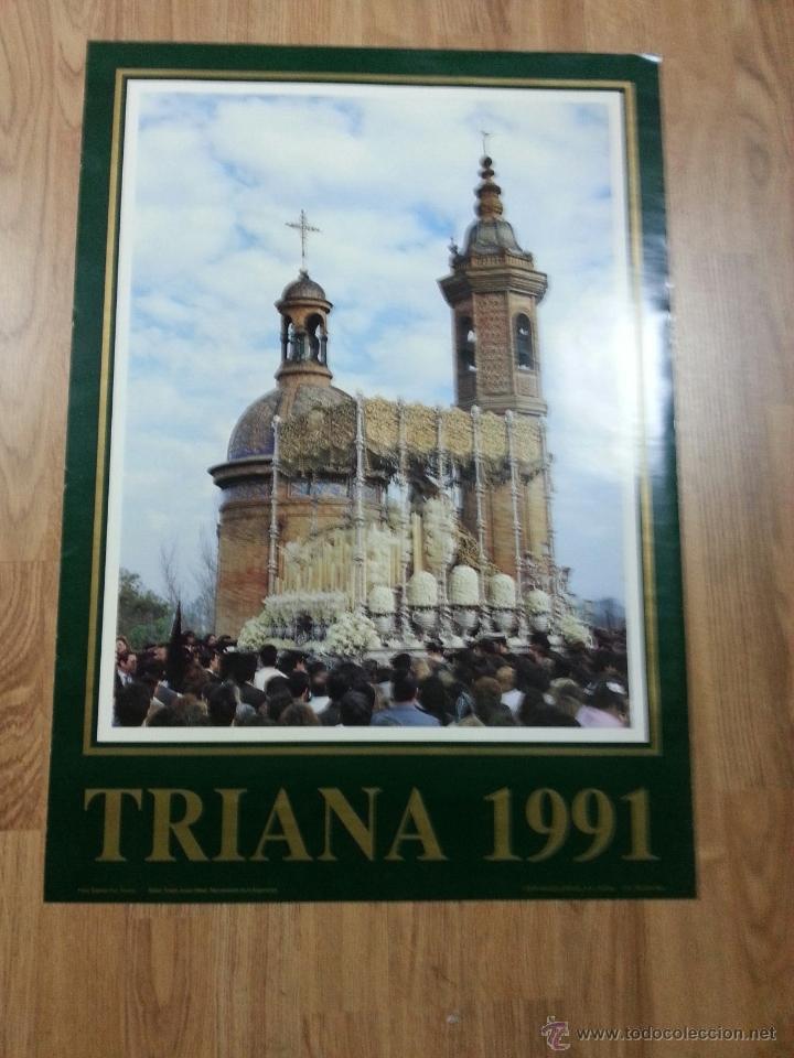 CARTEL SEMANA SANTA SEVILLA TRIANA 1991 48X70 CM (Coleccionismo - Carteles Gran Formato - Carteles Semana Santa)