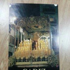 Carteles de Semana Santa: CARTEL SEMANA SANTA CÁDIZ 1990 43X70 CM. Lote 41296248