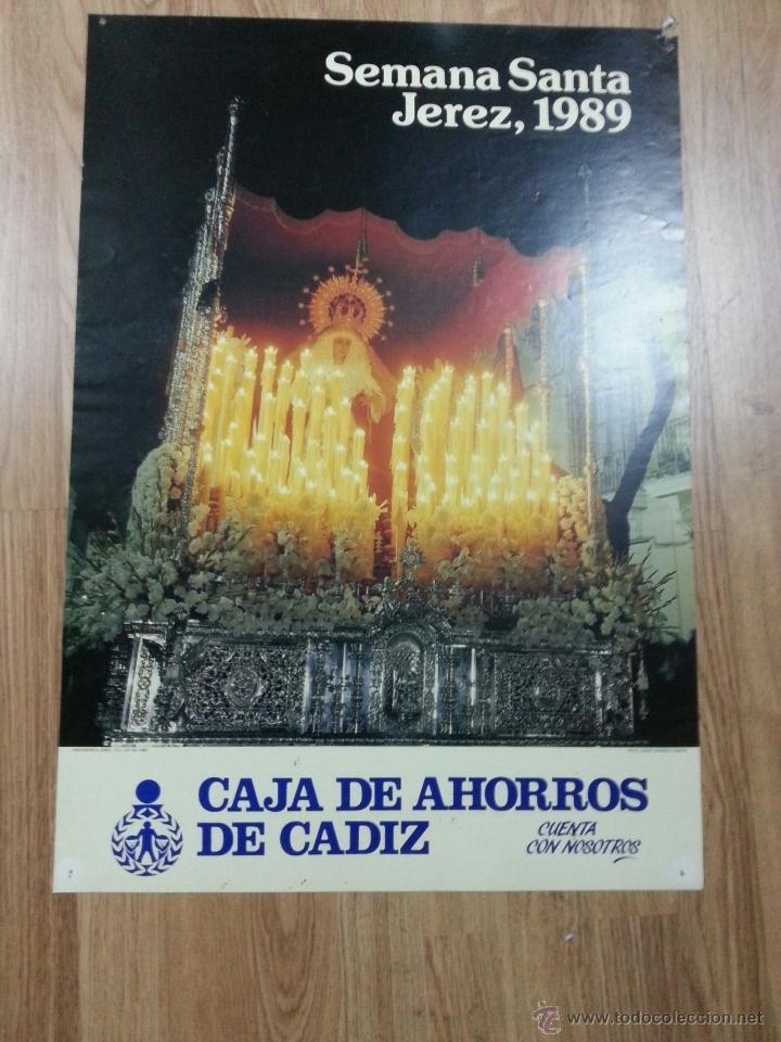 CARTEL SEMANA SANTA JEREZ 1989 48X70 CM (Coleccionismo - Carteles Gran Formato - Carteles Semana Santa)