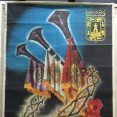 Carteles de Semana Santa: CARTEL DE SEMANA SANTA 1952 - CARTAGENA (MURCIA). CARTAGENA: 1952. 62X100. CARTEL. NORMAL (CON SEÑAL. Lote 42139418