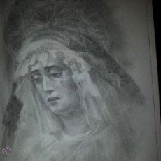Carteles de Semana Santa: 24 X 16 ILUSTRACION SEMANA SANTA SEVILLA - VIRGEN O CRISTO , IDEAL PARA ENMARCAR. Lote 42814992