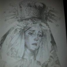 Carteles de Semana Santa: 24 X 16 ILUSTRACION SEMANA SANTA SEVILLA - VIRGEN O CRISTO , IDEAL PARA ENMARCAR. Lote 42815486